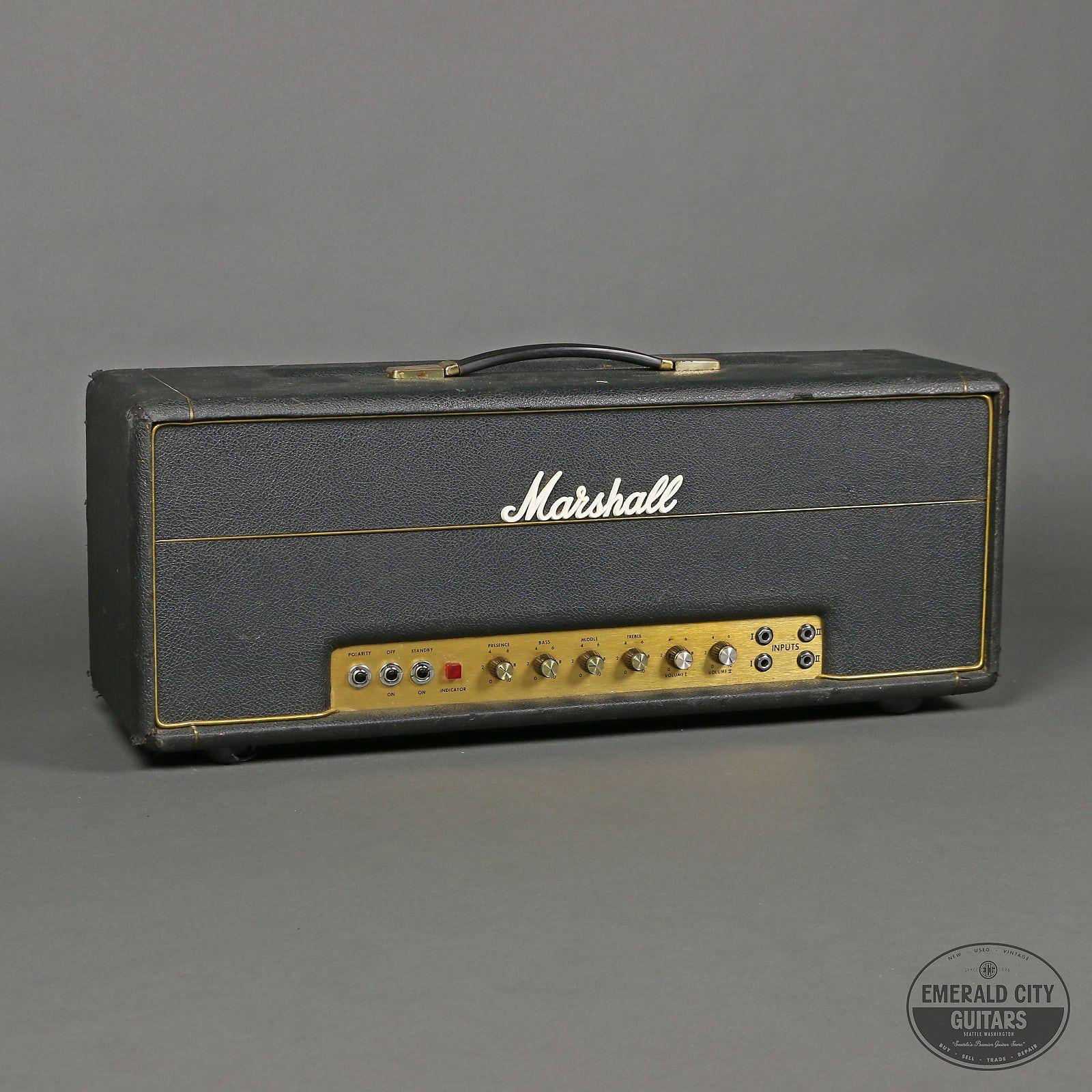Marshall Jmp 1959 Super Lead 2 Channel 100 Watt Guitar Amp Head 1967 1975 Reverb In 2020 Marshall Amps Marshall Music Gear