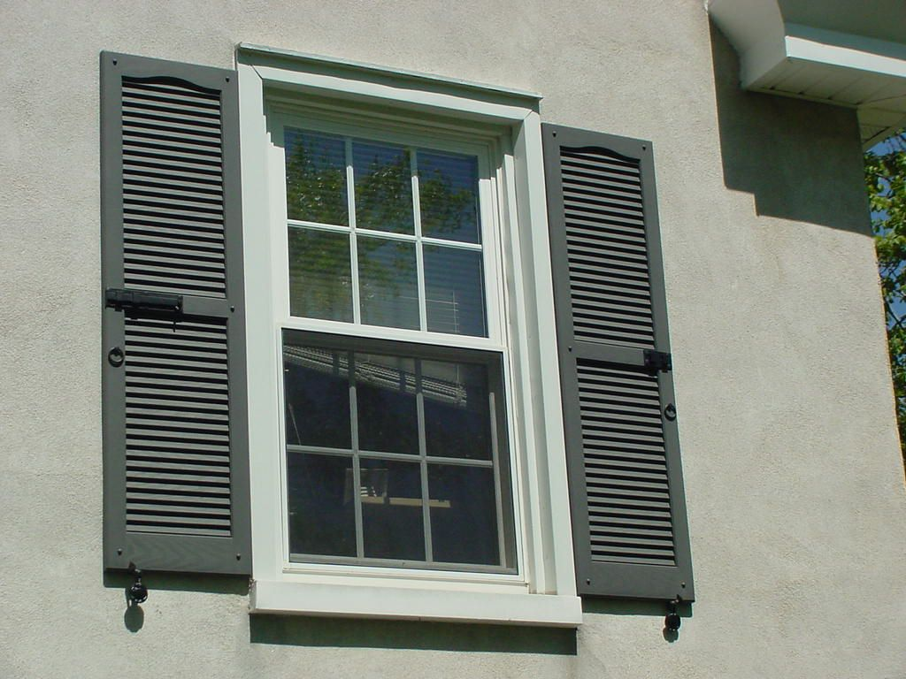 Colonial Latch Kit Clam Dog Kit And Ring Kit Installed On Shutters House Exterior Vinyl Shutters Shutter Hardware
