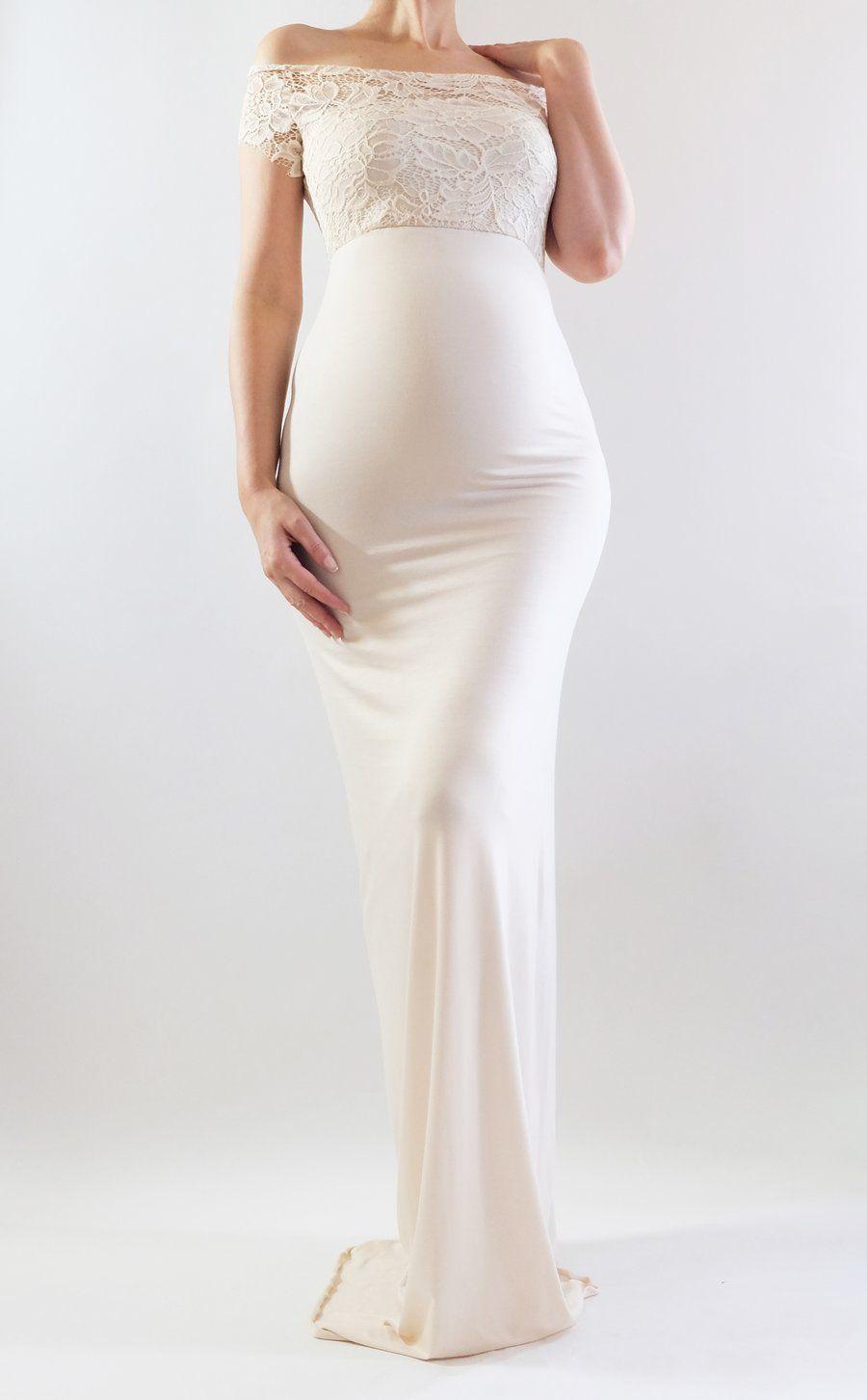 22d342fc37 Off Shoulder Maternity Dress