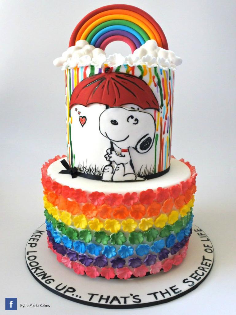 Cake! magazine by Australian Cake Decorating Network August 2016 (With images) | Snoopy cake. Australia cake. Cake