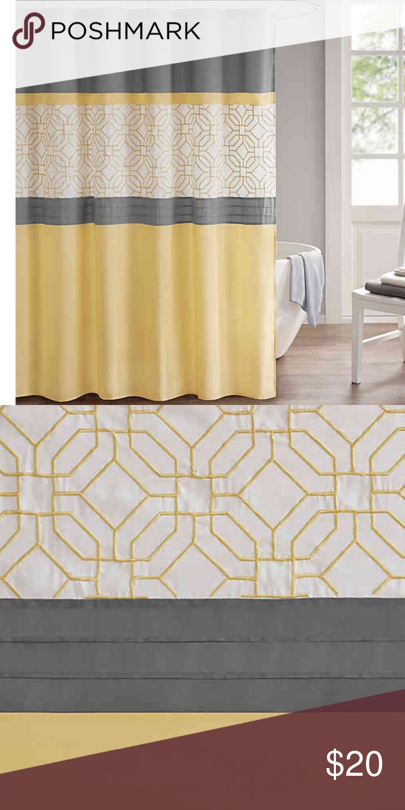 510 Design Donnell Embroidered and Pieced Shower Curtain with Liner