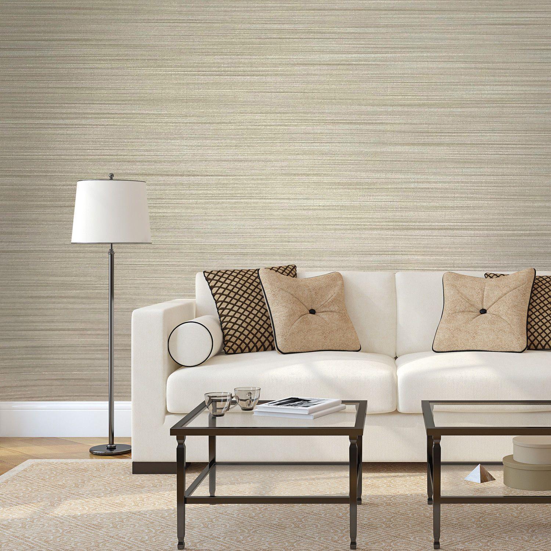 135037 Wallpaper Beige Textured Plain Horizontal Faux Grassc
