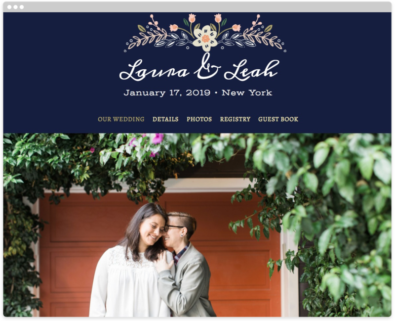 Wildflower Crest Wedding Website Template The Knot Wedding Website Wedding Website Template Wedding Website Free
