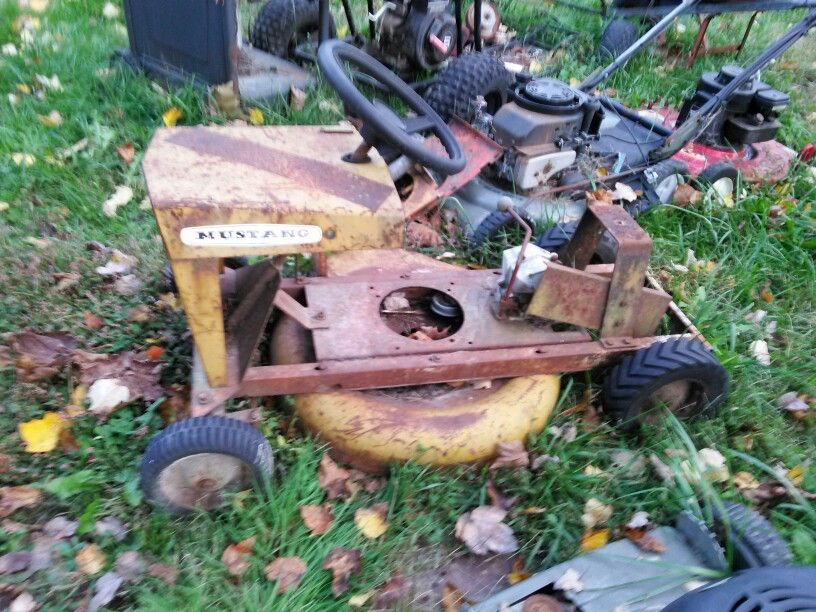 Vintage Mustang Mower Vintage Mustang Garden Tractor Mower