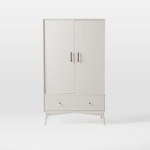 Mid Century Wardrobe White West Elm Tall Cabinet Storage