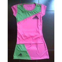 d59b4ec45 Conjunto Deportivo De Niña Adidas Color Fucsia Y Verde Falda | Ropa ...