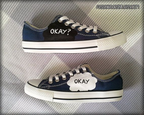 Okay Okay. Painted Shoes / Custom Converse / The by FeslegenDesign