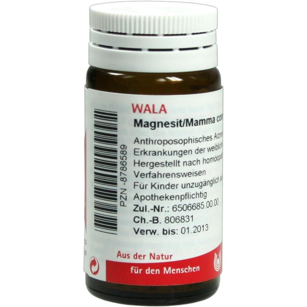 MAGNESIT- MAMMA COMP. Globuli:   Packungsinhalt: 20 g Globuli PZN: 08786589 Hersteller: WALA Heilmittel GmbH Preis: 5,99 EUR inkl. 19 %…