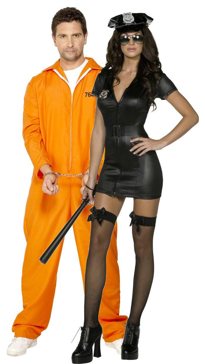 Déguisement couple policière sexy et son prisonnier   Déguisement de  policière sexy femme Ce déguisement de policière sexy est composé d une robe  noire ... 9eccc090b14a