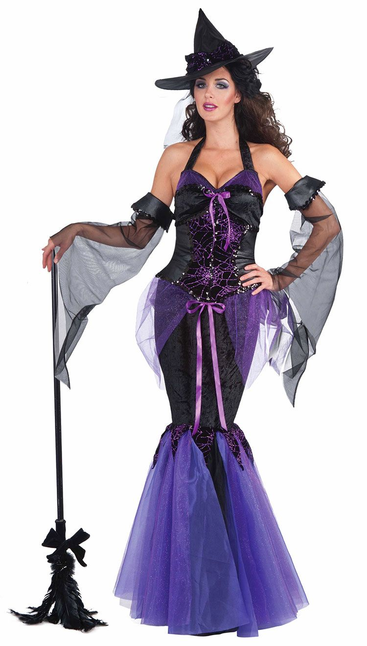 Is there a better way to be a witch? Love the mermaid style dress ...