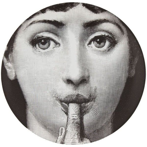 Fornasetti Plate (€115) ❤ liked on Polyvore featuring home, kitchen & dining, dinnerware, circles, black, porcelain dinnerware, black porcelain dinnerware, porcelain plates, black dinnerware und fornasetti plates