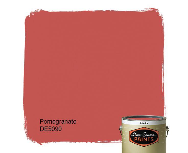 Dunn Edwards Paints Red Paint Color Pomegranate De5090