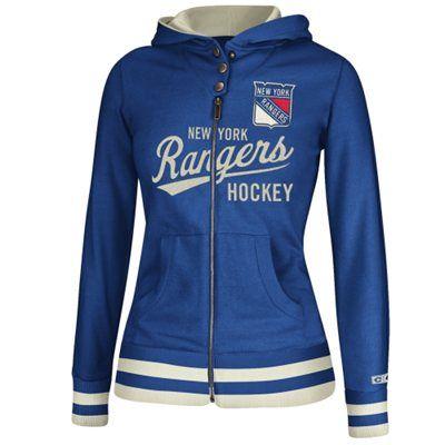 Women s New York Rangers Reebok Royal Blue CCM Full Zip Hoodie. Gimme gimme! a4e3a26f0