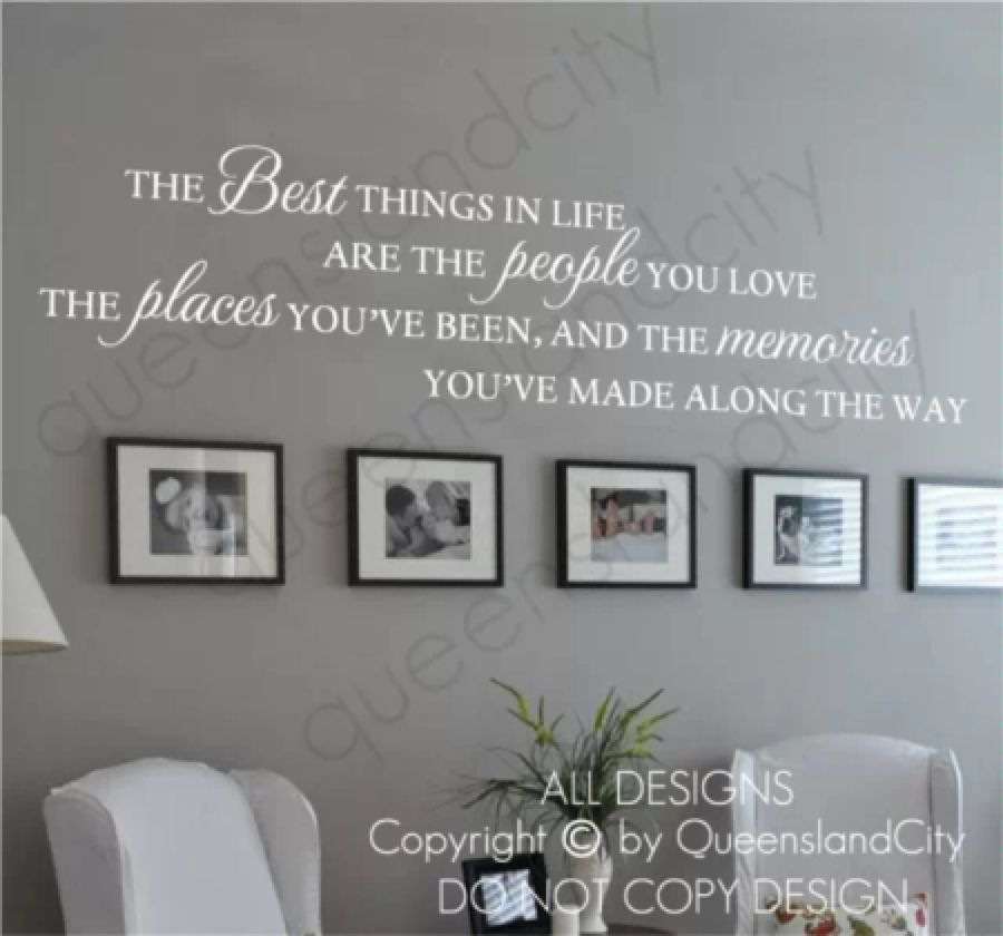 The Best Things In Life Love Memories Wall Quote Home Art Decal Vinyl Sticker Memory Wall Home Quotes And Sayings Wall Quotes Decals