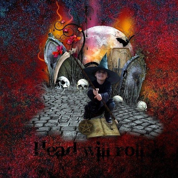 "Ma page avec le Collab ""Halloween Fright Night"" de Kitty Scrap et Mellye Créations"
