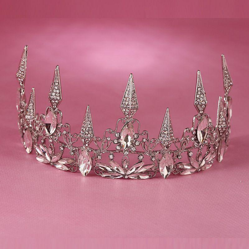 Hot European Designs Large Vintage Queen Crown Retro Rhinestone