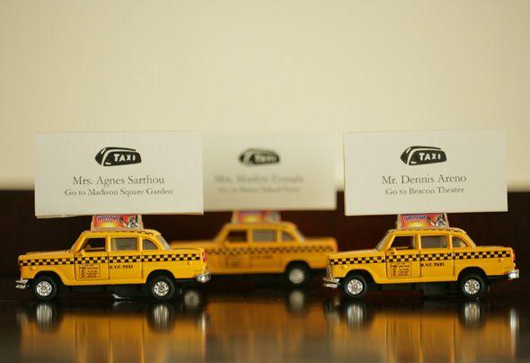 New York City Cab Escort cards | Parties - Weddings - Events ...