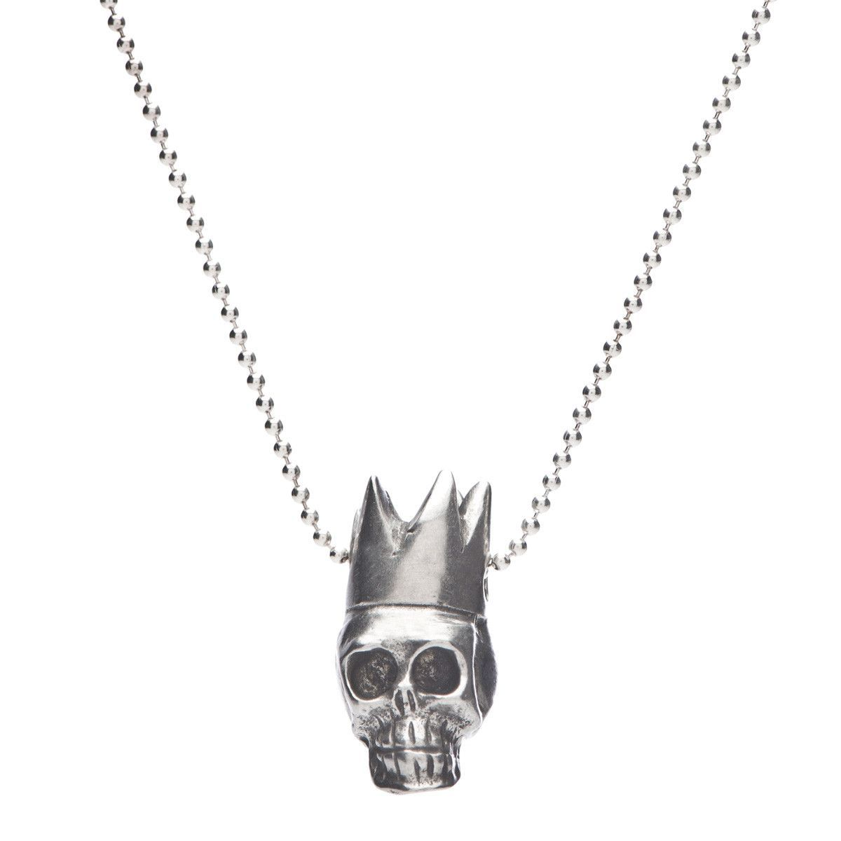 Skull King Necklace in Pewter