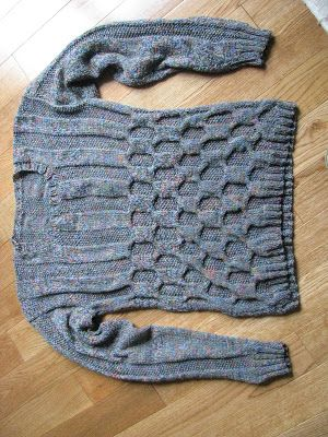 Chris Knits in Niagara: Merino Color Baby Rib Twist Pullover