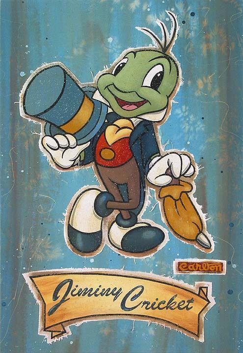 Gimini Cricket Jiminy Cricket Pinocchio Jiminy Cricket Disney Art Pinocchio