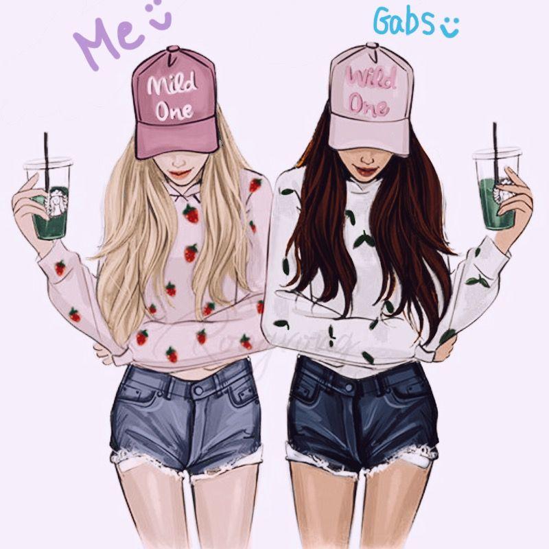 Recolor Gallery Best Friend Sketches Best Friends Cartoon Friends Sketch