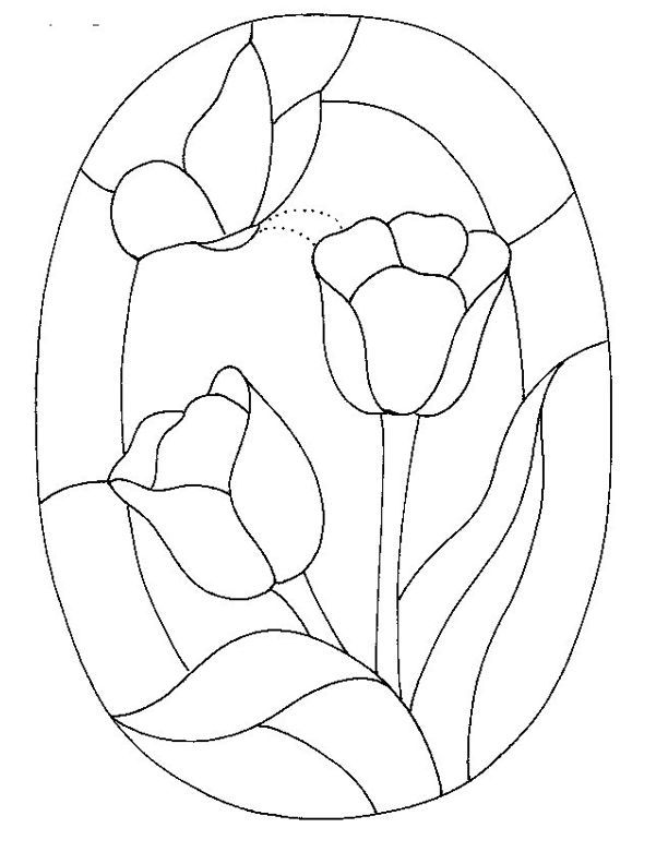 Free printable stained glass patterns glass pattern 165 for Glass painting templates
