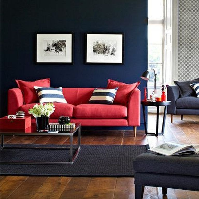 20 Cozy Modern Red Sofa Design Ideas For Living Room Red Sofa Living Room Colors Sofa Design