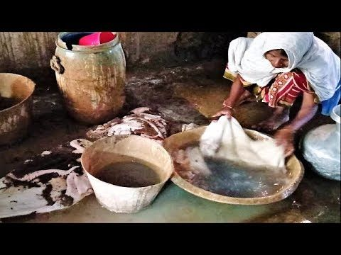 Cow Intestine Cleaning and Processing by Grand Mother | Amazing Cow Inte...