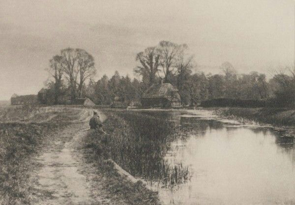 Walter L.Colls, England : On the Basinstone Canal. 1892