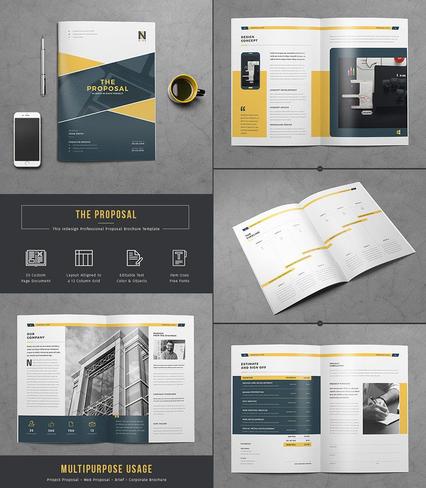 The Proposal - Flexible Business Template Design | Proposal Design ...