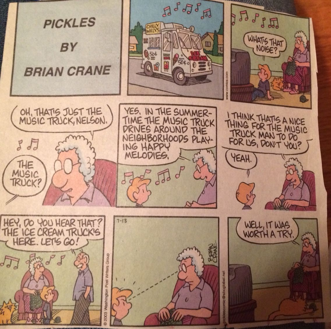 Pickles comic