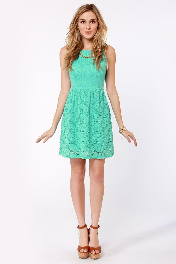 Birthday Party Mint Blue Lace Dress Mint blue Mint dress and