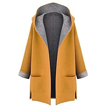 Minetom Damen Herbst Winter Mantel Lang Elegant Langarm