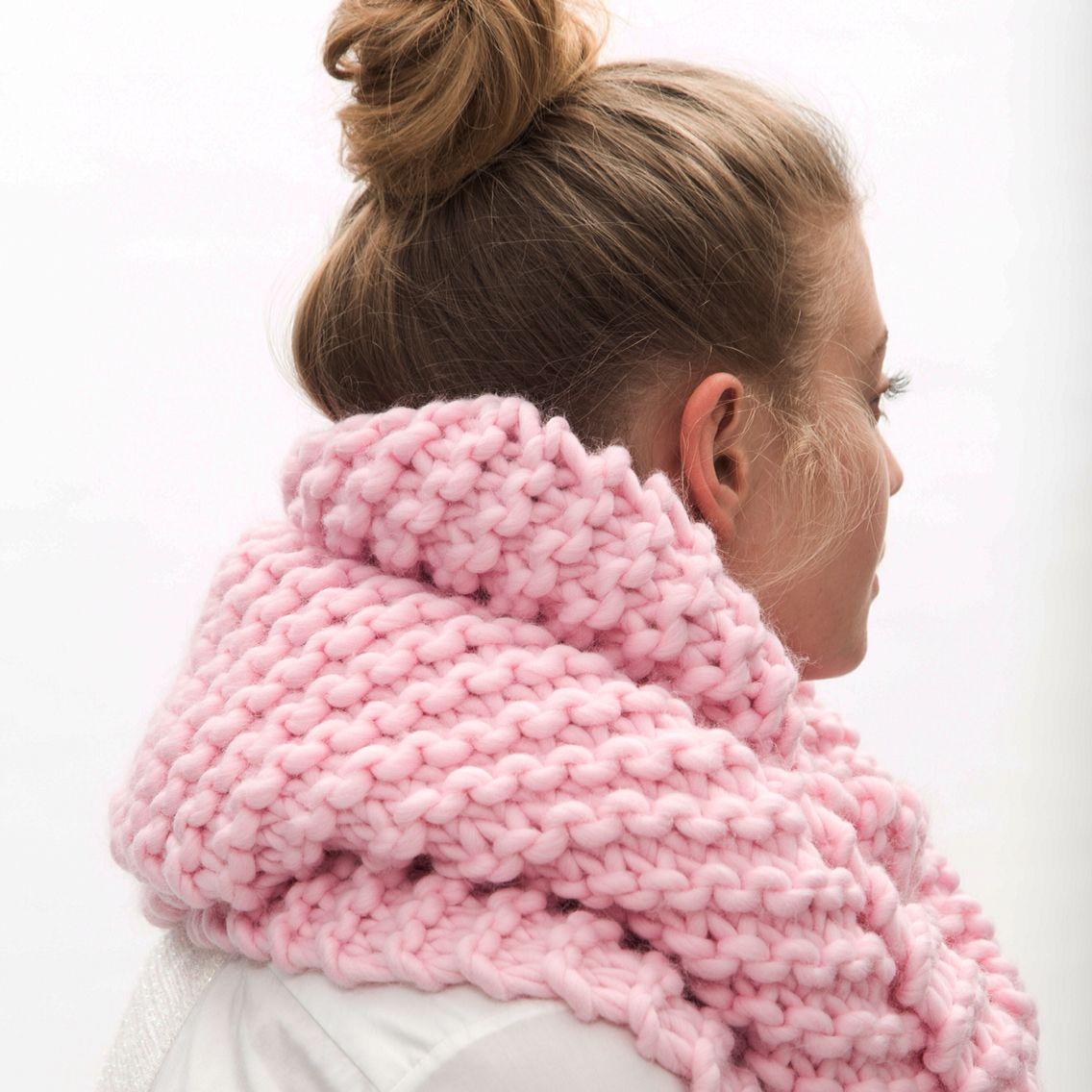 BILLIE scarf Candy pink #aw2015