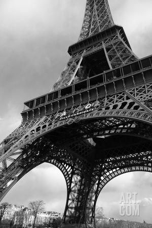 Paris, France; Low Angle View of the Eiffel Tower Photographic Print by Design Pics Inc at Art.com