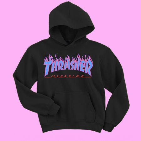 57289d606665 Thrasher blue flames Sweatshirt and Hoodie in 2019