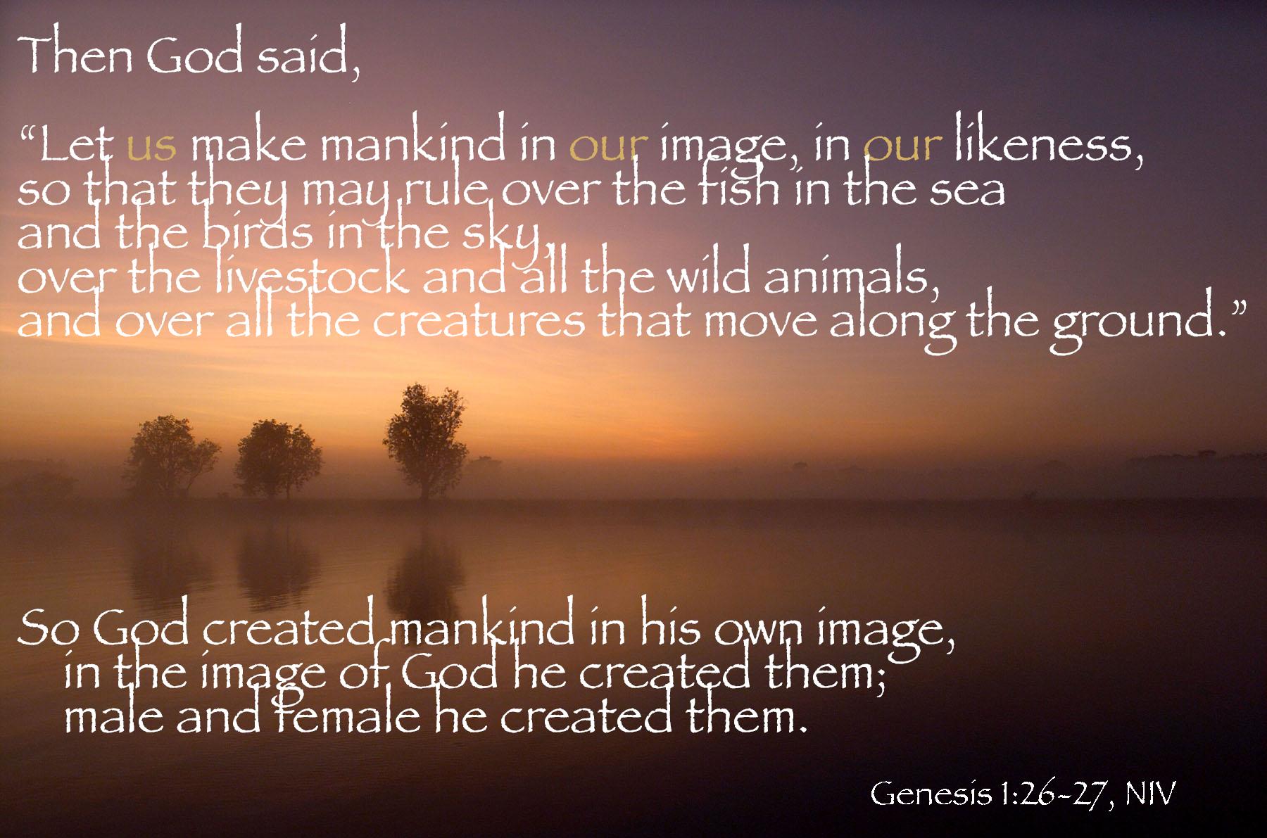 Genesis 1 26 27 Scripture Verses Prayer Poems