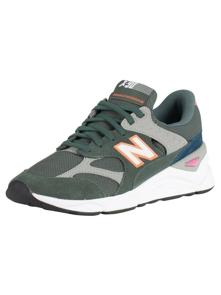 New Balance Men's X 90 Suede Trainers Green #fashion