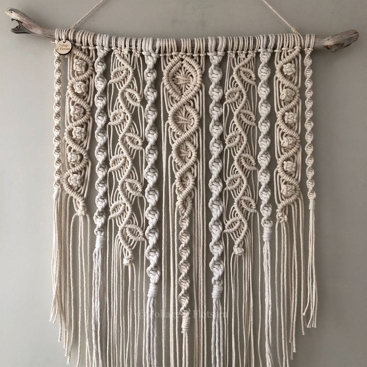 48 Large macramé wall hanging/ large woven wall hanging /Yarn wall hanging/yarn tapestry/Tassel wal