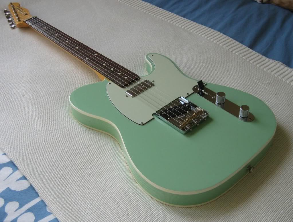 telecaster seafoam green double bound wishlist pinterest guitars fender guitars and. Black Bedroom Furniture Sets. Home Design Ideas