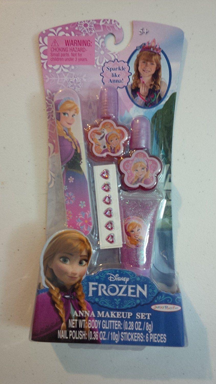 Disney Frozen Princess Elsa Anna Make Up Set Nail Polish Body Glitter Stickers