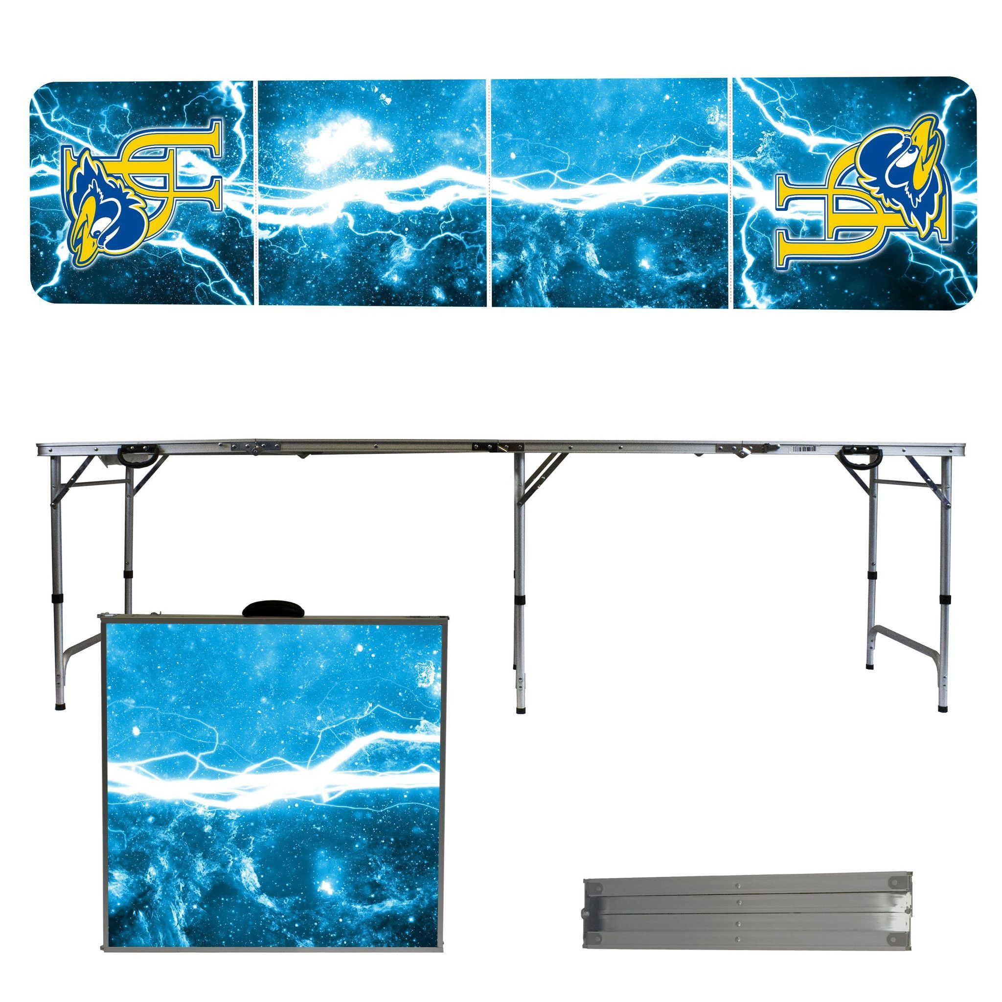 University Of Delaware Blue Hens 8 Foot Portable Tailgate And Pong Table Tailgate Table Folding Table Tailgate