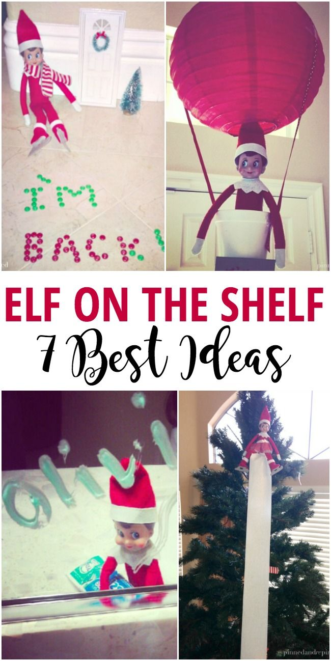 7 Best Elf on the Shelf Ideas via @pinnedandrepinn