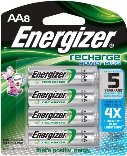 Amazon Com Energizer Rechargeable Batteries Aa Size 8 Count Health Personal Care Rechargeable Batteries Energizer Nimh Battery