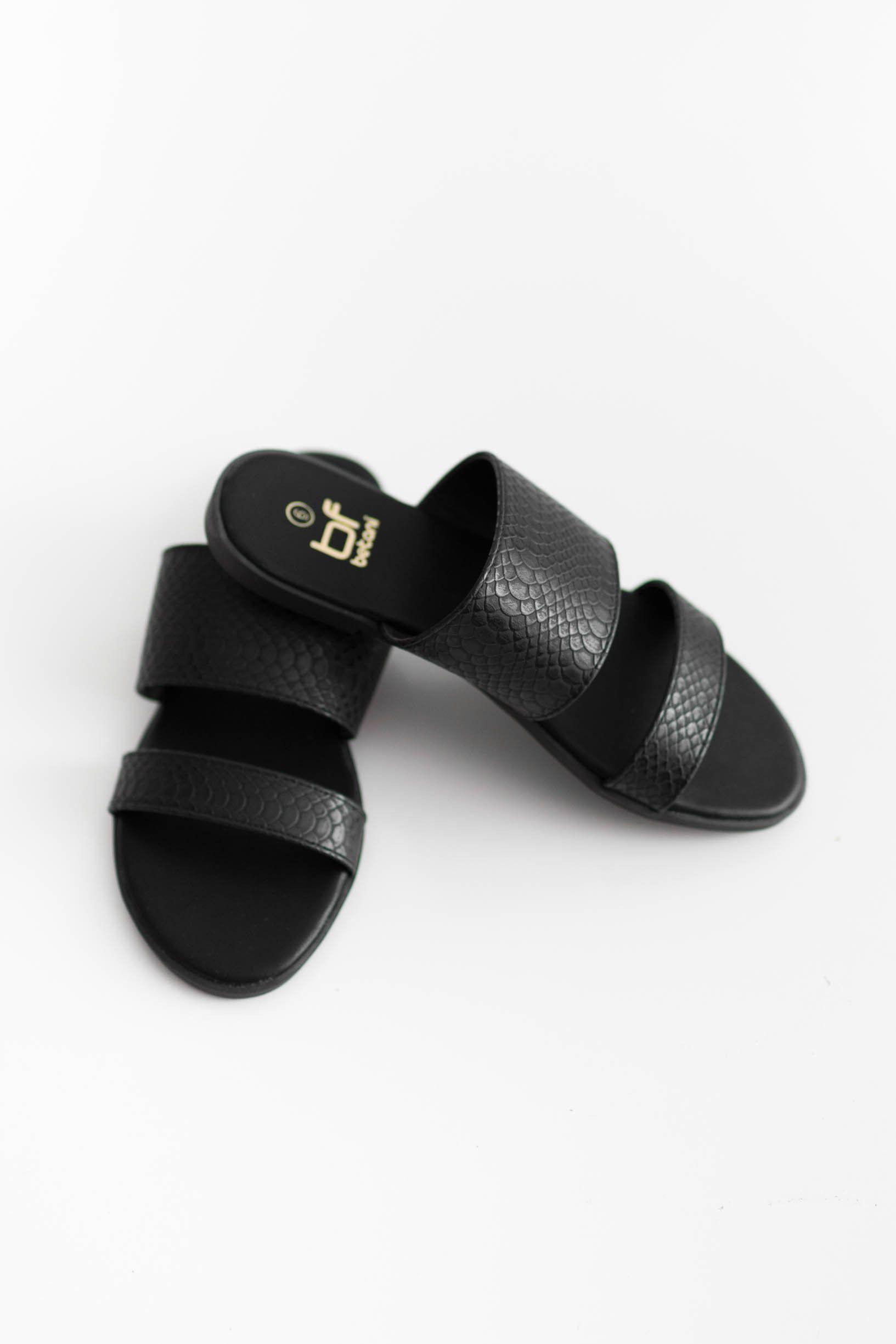3ac2d6fff25e Double Strap Snake Skin Flat Sandals