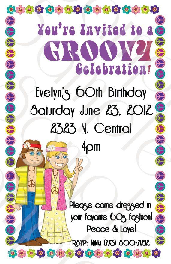 NEW 60s Birthday Invitation by BMeDesignsInc on Etsy, $10.00 | Etsy ...