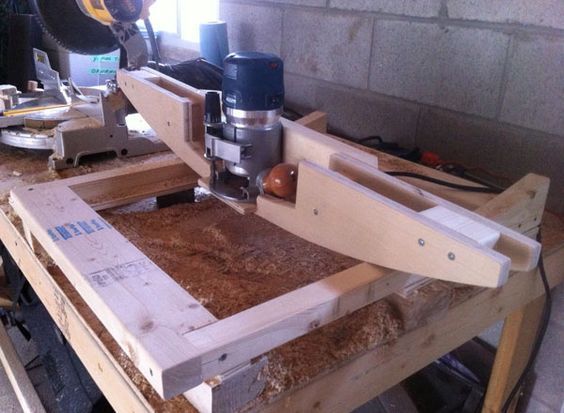 Router setup that we use to mill the seating surface the wood is router setup that we use to mill the seating surface the wood is clamped to keyboard keysfo Gallery