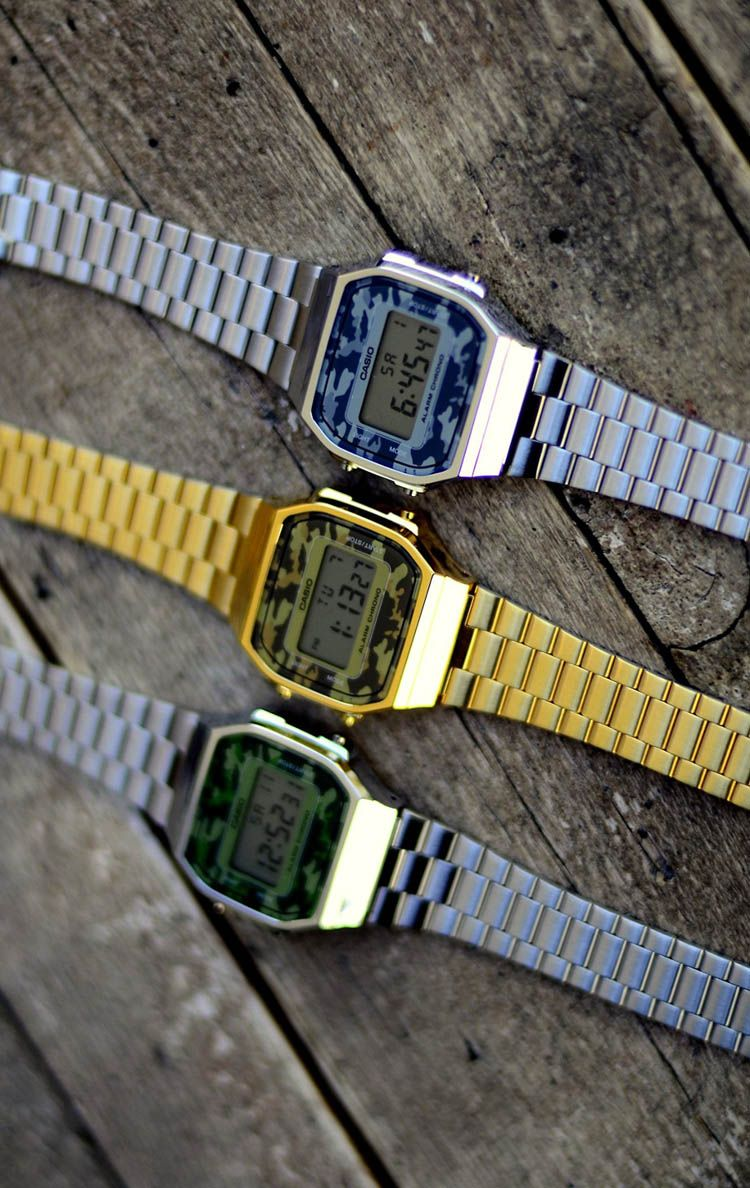 dbc79f835521 Casio Camo Digital Gold Strap Watch