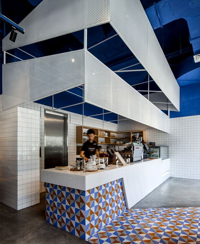 Playroom Workroom Bedroom 1965: Paras Cafe Composed By A Play Of Tiles And Inspired By The