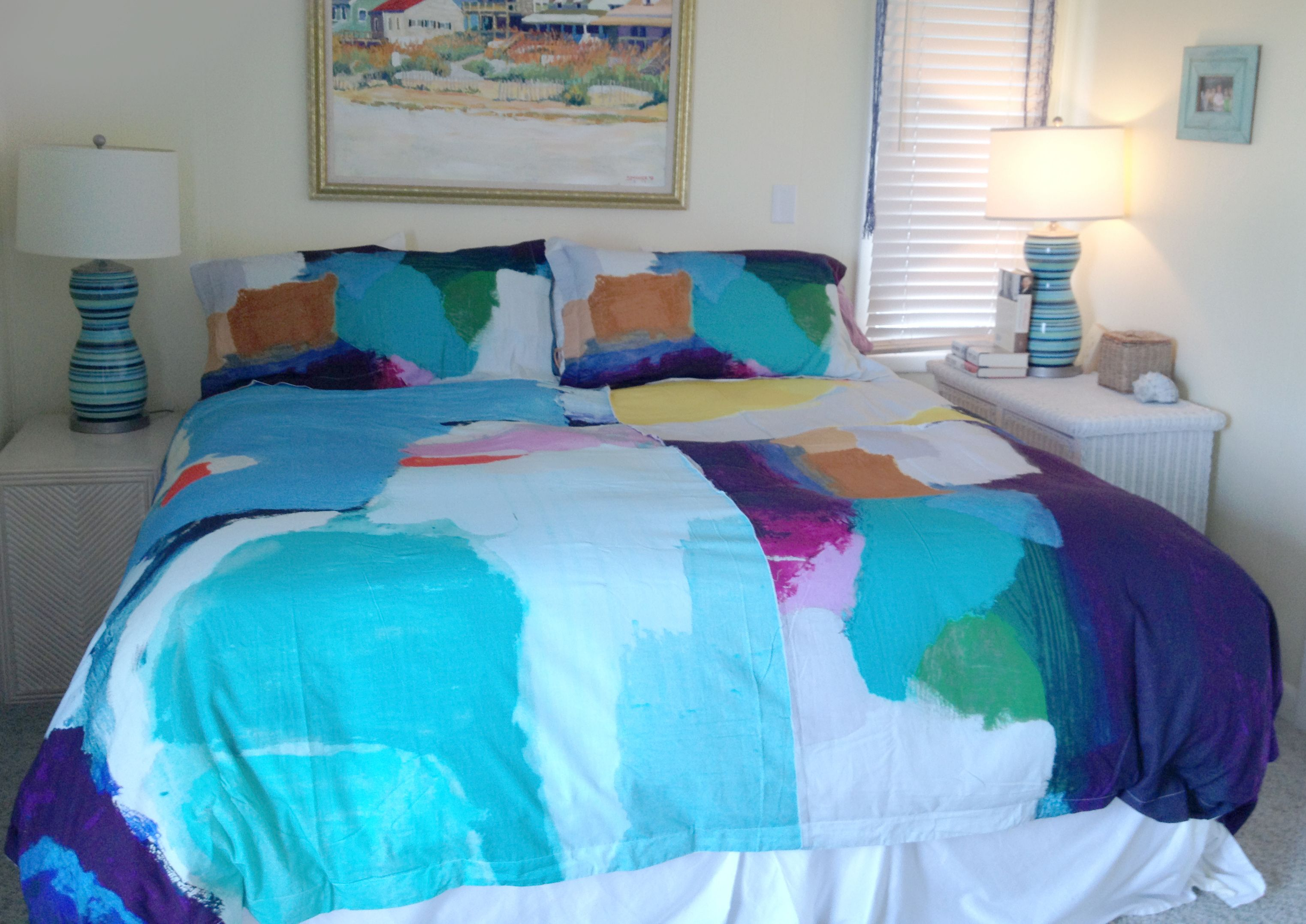 The Kala bedding collection from @Anthropologie, based upon the art of Claire Desjardins. - photo taken by a friend!